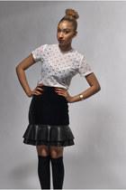 black DollsMaison skirt - black knee high Primark socks
