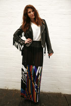 black Office boots - black DollsMaison jacket - white silk DollsMaison t-shirt