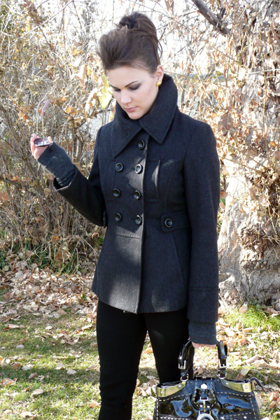 Esprit coat - no brand jeans - Cole Haan glasses - no brand earrings - gloves