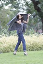 skinny jeans Valley Girl jeans - silk parka decjuba jacket