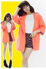 Black-dolly-molly-boots-carrot-orange-orange-jacket-dolly-molly-blazer