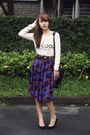 Ivory-mango-sweater-black-31-phillip-lim-bag-deep-purple-sweet-shop-skirt