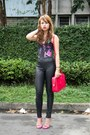Black-topshop-leggings-hot-pink-saint-laurent-bag