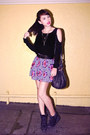 Black-alexander-wang-bag-black-forever-21-top-amethyst-zara-skirt