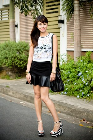 black Alexander Wang bag - white Zara shoes - black Forever 21 skirt