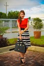 Black-hermes-bag-black-h-m-heels-black-metro-skirt-red-topshop-top