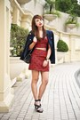 Navy-mango-blazer-black-chanel-bag-red-forever-21-top-navy-zara-heels
