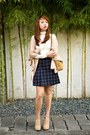 Camel-chanel-bag-navy-f-f-skirt-ivory-stradivarius-top