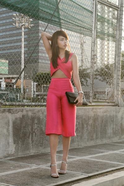 hot pink Glitterati bodysuit