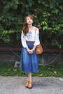 Camel-hermes-bag-white-h-m-top-blue-stradivarius-skirt