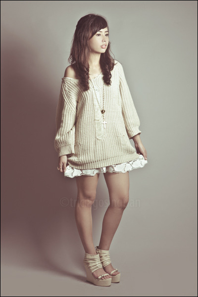 white Forever 21 dress - ivory wholesale-dressnet sweater - white cross necklace