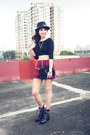 Black-zara-shoes-black-ysl-bag-ruby-red-mango-skirt-black-vaintage-top
