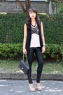 Light-pink-giuseppe-zanotti-shoes-black-topshop-leggings-black-chanel-bag