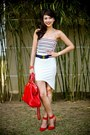 Red-fendi-bag-white-paradise-treats-skirt-ruby-red-zara-heels