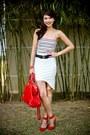 Red-fendi-bag-white-paradise-treats-skirt-ruby-red-zara-heels