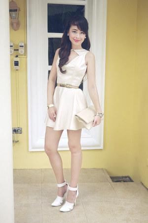 Patricia Santos dress - Saint Laurent bag - Alexander Wang heels - Rolex watch