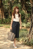 heather gray Celine bag - dark gray Stradivarius pants