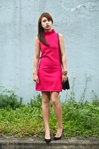 hot pink The Clothing Hub dress - black Celine bag