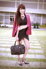 Hot-pink-miu-miu-blazer-black-loewe-bag-black-h-m-top