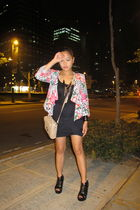 black shoes - pink River Island blazer - black Undernourished Manila skirt - bei