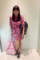 pink Topshop dress