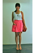 pink Topshop skirt - brown Tint shoes