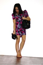 River Island dress - Topshop belt - channel purse - Charles and Keith shoes