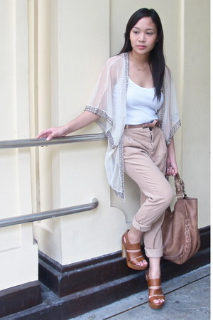 tawny Aldo shoes - tan Zara pants - neutral Topshop top