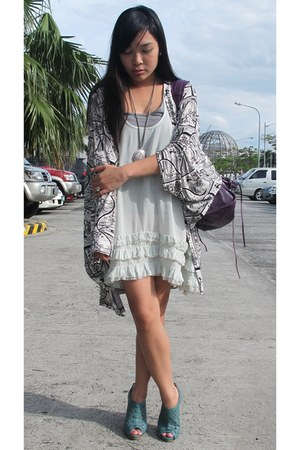 aquamarine Topshop dress - white Topshop cape
