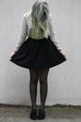 Crossed-h-m-blouse-creeper-shoes-thriftshop-bag-skater-monki-skirt