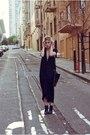 Black-forever-21-boots-black-zero-maria-cornejo-dress