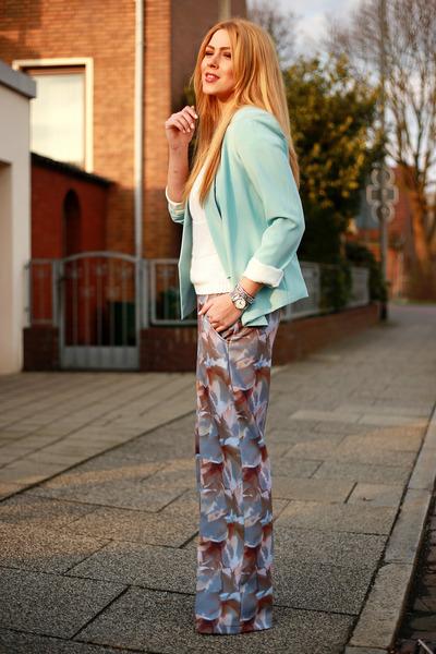 sky blue sammydress blazer - light purple Zamrie pants
