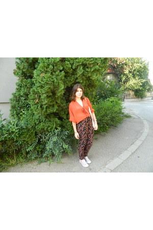 Primark blouse - Topshop pants - H&M bra