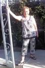 Danskin-blouse-danskin-pants-montego-bay-club-sandals