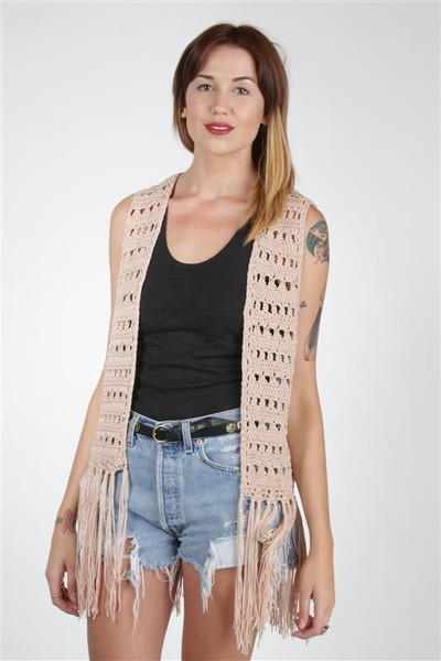 light pink Doris Apparel vest