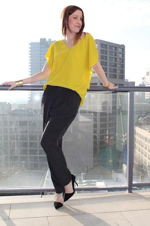 Zara shirt - Zara pants - Zara heels - Michael Kors watch