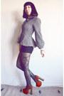 Peplum-vintage-norma-kamali-jacket-houndstooth-american-apparel-shorts