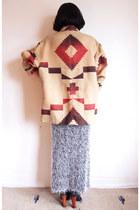 tan southwestern Ralph Lauren vintage coat - black Jeffrey Campbell boots