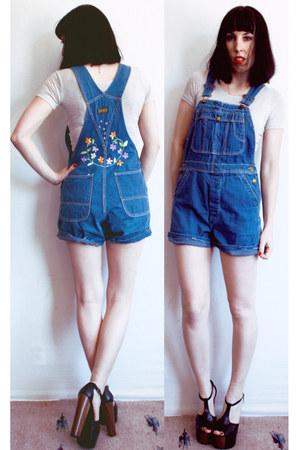 blue overalls vintage 60s romper