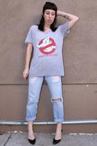 ghostbusters vintage t-shirt - light blue 501s Levis jeans
