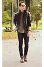 Brown-ferracini-shoes-shoes-black-handbook-leather-jacket-jacket