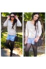Black-hue-tights-black-nasty-gal-bag-sky-blue-cut-off-old-navy-shorts
