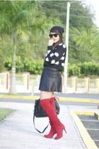 Forever 21 sweater - Ebay boots - Forever 21 skirt