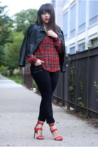 Forever 21 jeans - Ebay jacket - JCPenney shirt - Akira heels