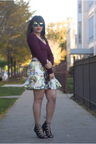 zeroUV sunglasses - Akira skirt - Clothes Envy heels - Forever 21 top