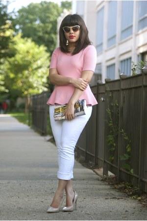 Forever 21 blouse - Rue 21 jeans - Forever 21 heels