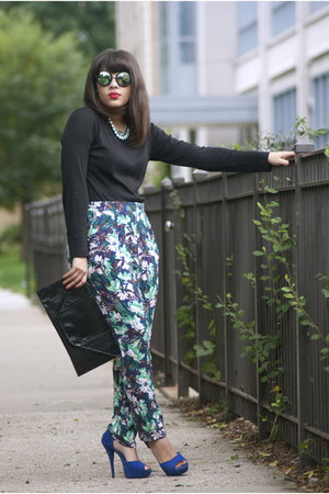 tommy bahama shirt - zeroUV sunglasses - H&M pants - Qupid heels