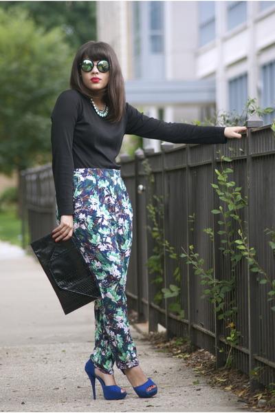 tommy bahama shirt - zeroUV sunglasses - H&M pants - Qupid heels