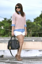 T O sweater - Qupid boots - Arden B shorts