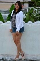 Ann Loft Taylor blazer - Zara blouse - Qupid wedges